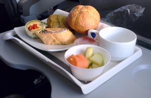 comidas y bebidas en el vuelo